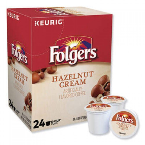 Folgers Hazelnut Cream Coffee K-Cups, 24/Box (0162)