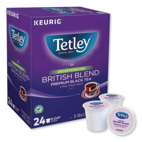 Keurig Tetley British Blend Decaf Black Tea (6856)
