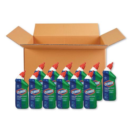 Clorox Toilet Bowl Cleaner with Bleach, Fresh Scent, 24oz Bottle (00031EA)