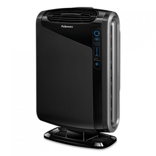 Fellowes HEPA and Carbon Filtration Air Purifiers, 300-600 sq ft Room Capacity, Black (9286201)