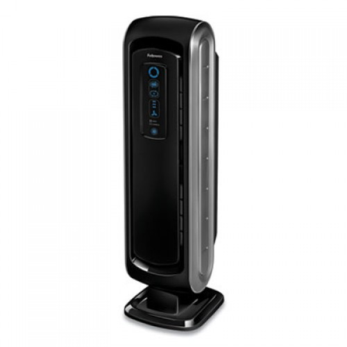 Fellowes HEPA and Carbon Filtration Air Purifiers, 100-200 sq ft Room Capacity, Black (9286001)