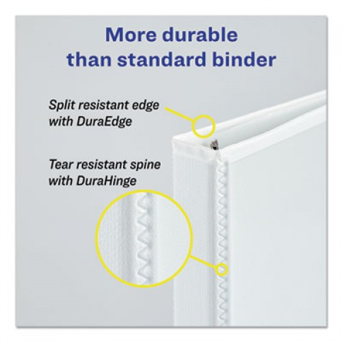 Avery Protect and Store Durable View Binder with Slant Rings, 3 Rings, 1.5