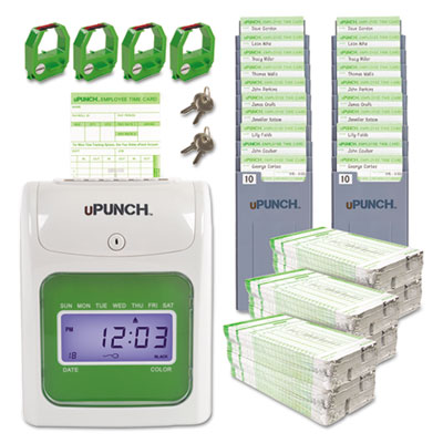 upunch hn3600 electronic time clock bundle - Upunch Time Cards