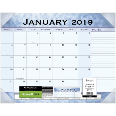 AT-A-GLANCE 89701 Monthly Desk Pad