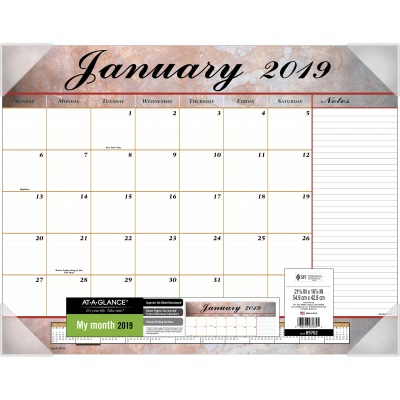 AT-A-GLANCE 89702 Monthly Desk Pad