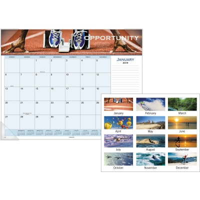 AT-A-GLANCE 89801 Panoramic Motivational Monthly Desk Pad