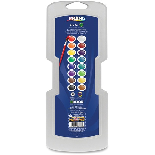 Dixon 16000 16 Oval Semi-Moist Watercolors