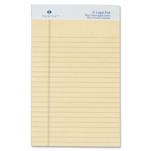 Sparco 01069 Colored Jr. Legal Ruled Writing Pads