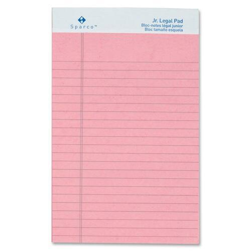 Sparco 01071 Colored Jr. Legal Ruled Writing Pads