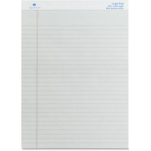 Sparco 01075 Colored Legal Ruled Pads