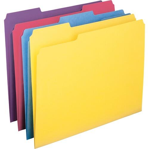 Smead 10349 1/3 Cut Antimicrobial Colored Folders