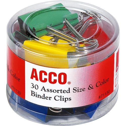Acco 71130 Colored Binder Clips