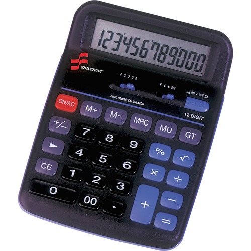 AbilityOne 4844560 12-Digit Portable Desktop Calculator
