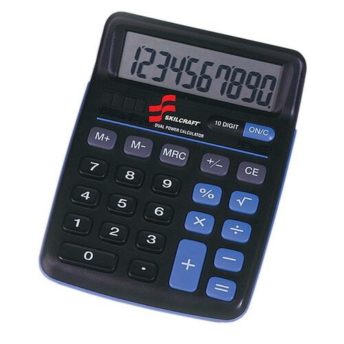 AbilityOne 4844580 10-digit Portable Desktop Calculator