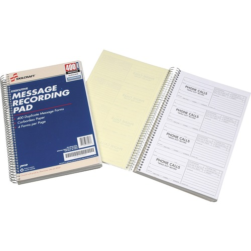 AbilityOne 3576830 Executive Message Recording Pads