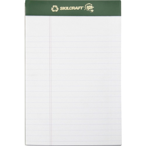 AbilityOne 5169629 Legal-ruled Perforated Writing Pads