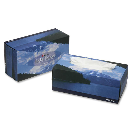 AbilityOne 7935425 Two-Ply White Facial Tissue