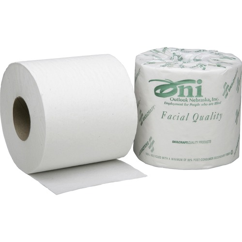 AbilityOne 3800690 Single Roll 2-Ply Toilet Tissue Paper