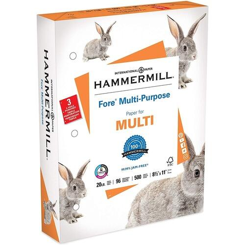 Hammermill 103275RM Jam-Free 3-hole Punched Fore MP Paper