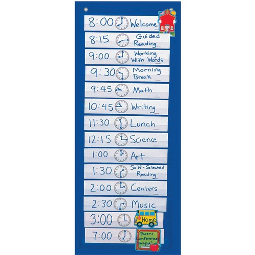 Carson-Dellosa CD5615 Scheduling Pocket Chart