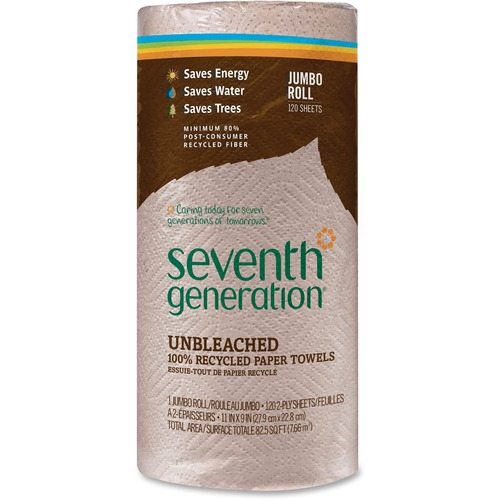 Seventh Generation 13720 Recycled Natural Brown Paper Towels