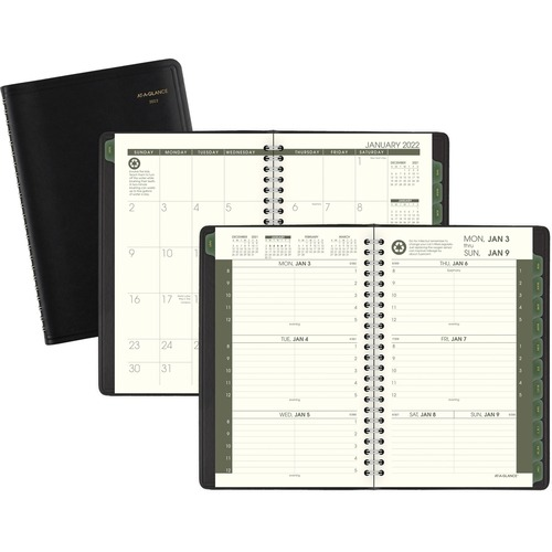 AT-A-GLANCE 70100G05 Recycled Grn Liv Weekly/Monthly Appt Book
