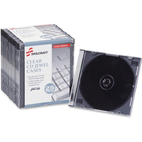 AbilityOne 5026513 Slim CD Jewel Cases