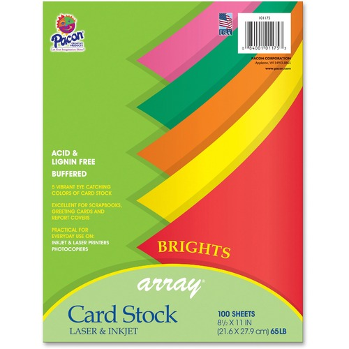 Pacon 101175 Brights Cardstock