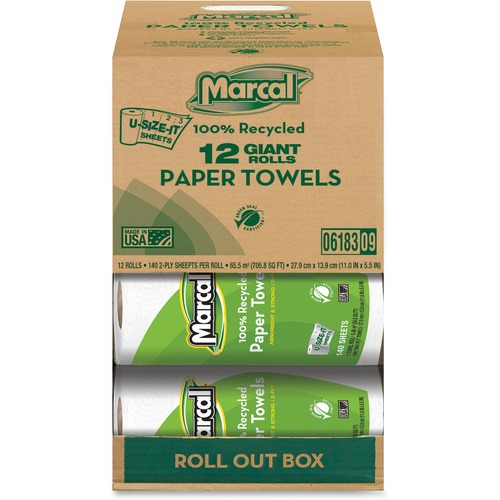 Marcal 06183 Giant Paper Towel in a Roll Out Carton