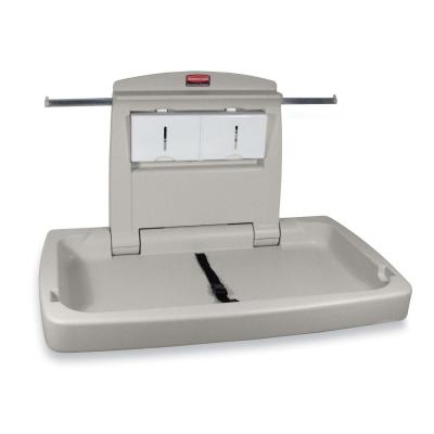 Rubbermaid 781888WE Horizontal Changing Station with Adjustable Safety Belt