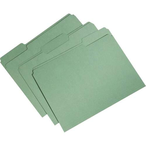 AbilityOne 5664132 1-ply Top Tab Recycled File Folders