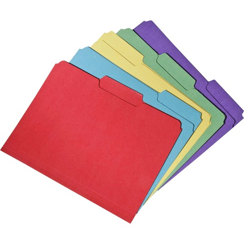 AbilityOne 5664143 2-ply Top Tab Recycled File Folders