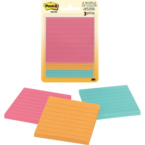 Post-it 6301 Cape Town Collection Lined Notes
