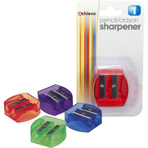 Officemate 30230 Dual Purpose Pencil & Crayon Sharpener