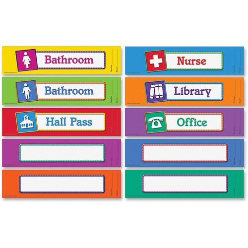 Learning Resources LER2729 Hall Passes Board