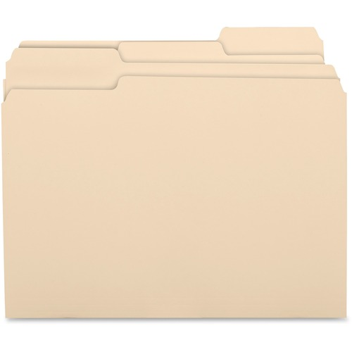 Business Source 17525 1/3 Cut Recycled Top Tab File Folder