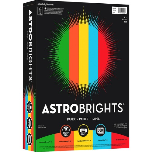 "Astrobrights 22226 Color Paper - ""Eco"" 4-Color Assortment"