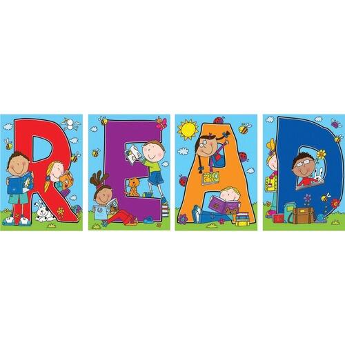 "Carson-Dellosa 110124 ""READ"" Bulletin Board Decoration Set"