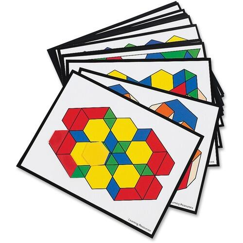 Learning Resources LER0264 Pattern Block Activity Cards