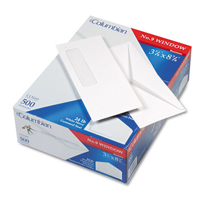 Westvaco CO160 Columbian Poly-Klear Single Window Envelope