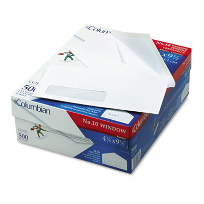 Westvaco CO170 Columbian Poly-Klear Single Window Envelope