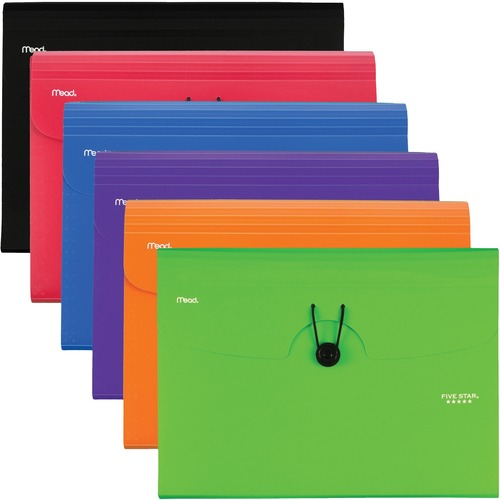 Acco 35552 6 Pocket Plastic Expanding File