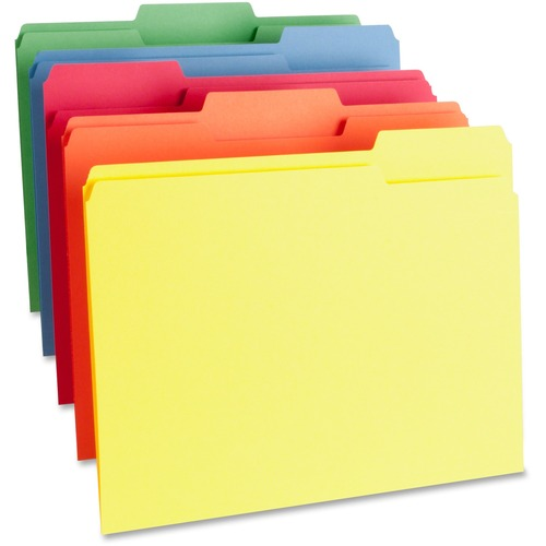 Business Source 65780 Color-coding Top Tab File Folder