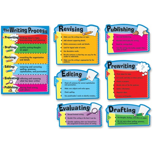 Carson-Dellosa 110014 Gr 3-8 The Writing Process Bulletin Brd Set