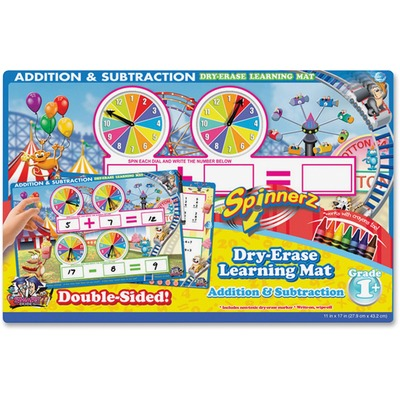 The Board Dudes 99101UA12 Addition/Subtraction Spinner Mat