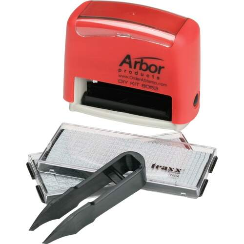 AbilityOne 2643718 Self-Inking Do-It-Yourself Stamp Kit