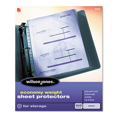 Acco Brands 21421 Wilson Jones Economy Weight Sheet Protector