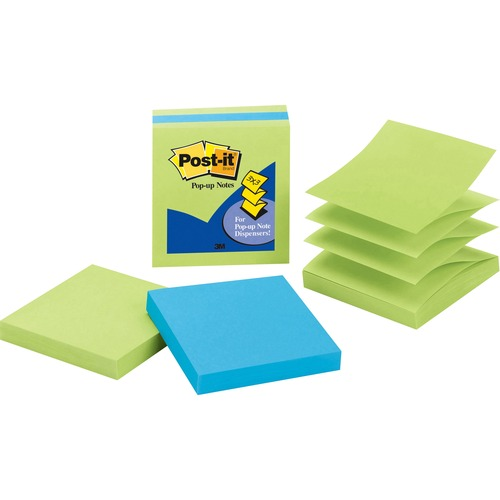 Post-it 33013AULE Pop-up 3x3 Note Pads