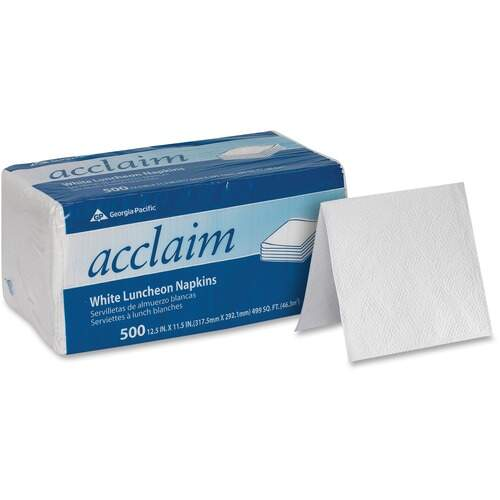 Acclaim 37707 White Luncheon Napkins