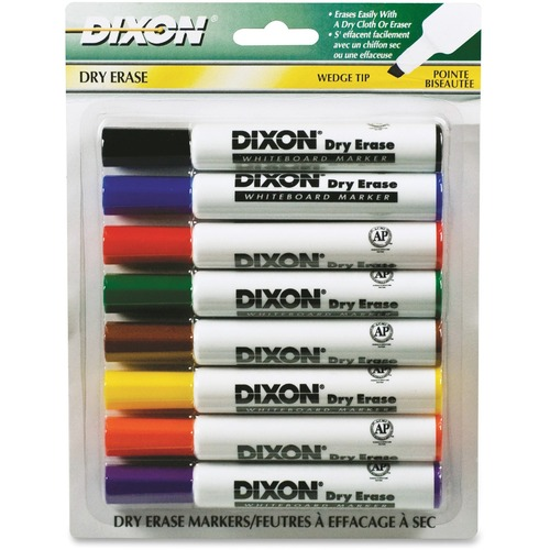 Dixon 92180 Wedge Tip Dry Erase Markers